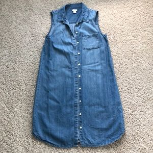 JCrew Factory Sleeveless Chambray Dress
